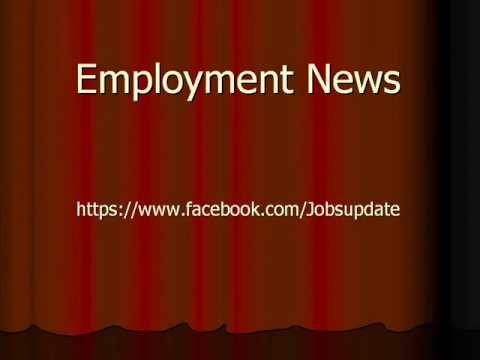 Employment news rojgar samachar of this week sarkari naukri