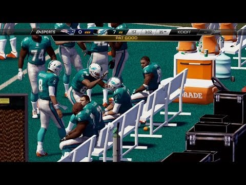 NFL 2013 Week 15 - New England Patriots vs Miami Dolphins - 1st Qrt - Madden 25 PS4 - HD