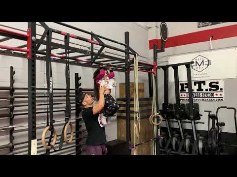 Working out at my gym CrossFit MDI
