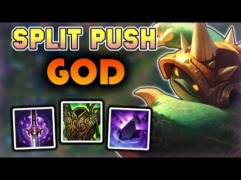 How to Split Push on Rammus Jungle - Rammus Jungle Commentary Guide - League of Legends