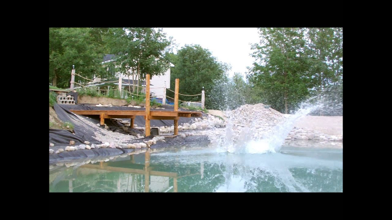 7 building your own private beach natural swimming pond for Pond swimming pool