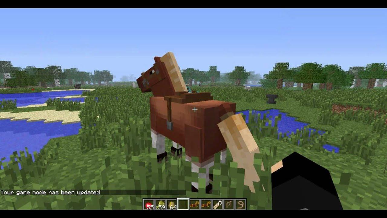 как оседлать лошадь в майнкрафт #10
