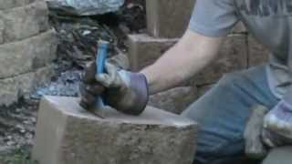 How To Split Wall Block And Bricks With Masonry Chisels