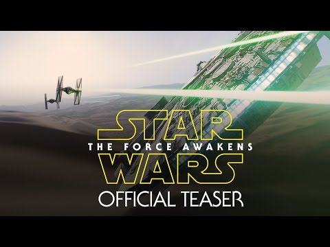 Star Wars: Force Awakens Teaser, The first teaser trailer for Star Wars VII.