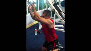 Cable Cross Over Lat Pull Down