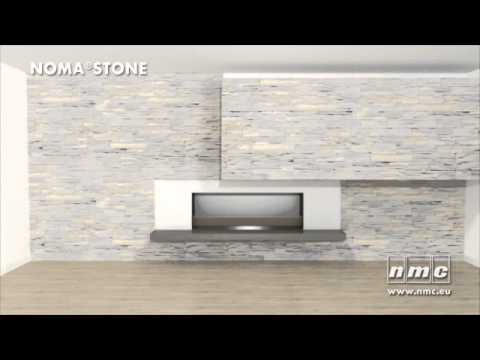 Wandverkleidung in stein nomastone youtube for Wandfliesen steinoptik