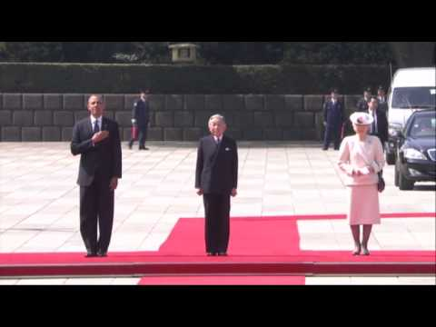 Raw:  Pres. Obama Visits Japan's Imperial Palace