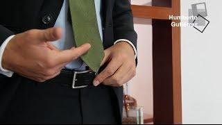 Hasta dónde debe llegar la corbata