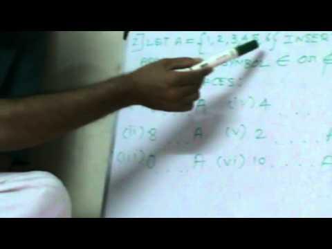 CBSE XI Mathematics - Part - 7 - Set Theory -4 by nsugavanam@gmail.com