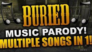 """Ops 2 Buried"""" PARODY! Multiple Songs in 1 Video! (""""Black Ops 2 Zombies"""