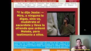 Estudio Bíblico 013 Mateo 8,1-13: Curación De Un Leproso