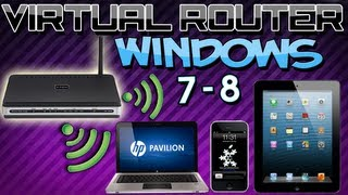 Como Crear Un Router Virtual En Windows 7/8 [Comparte