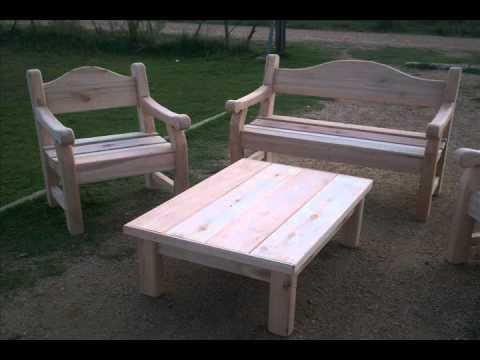 Muebles r sticos de jard n y para barbacoa sr dise os - Disenos de jardines rusticos ...