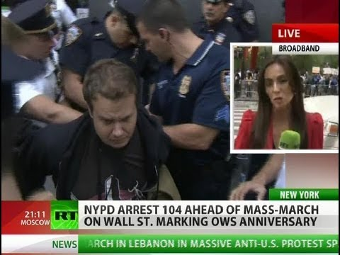 Mass arrests in NYC as OWS movement marks one year