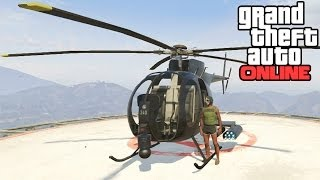 GTA Online: Buzzard Location! How To Get A Buzzard