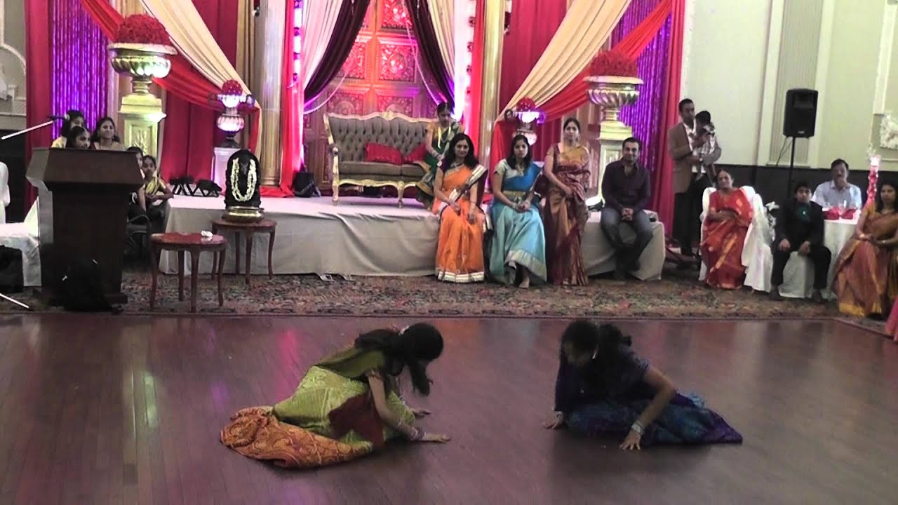 Rishitha half saree function neha and asrita dance youtube