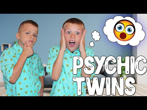Mind Reading Psychic Twins - Twin Telepathy Challenge!!