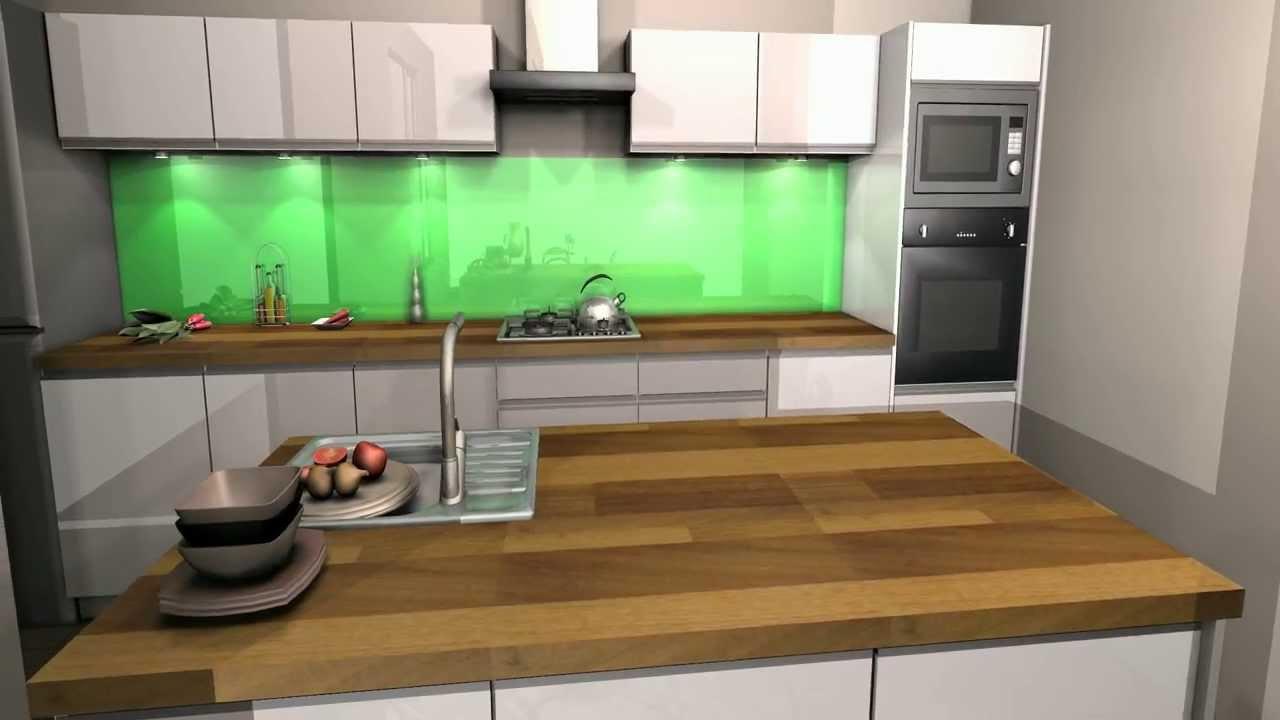 Projekty kuchnia laminowana i w białym połysku  YouTube -> Kuchnia Orzech Jasnoszary