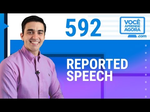 AULA DE INGLÊS 592 Reported Speech