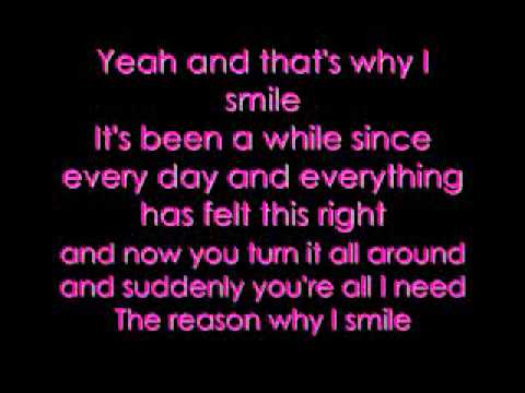 Avril Lavigne - Smile Lyrics On Screen