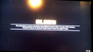 GTA 5 Services Failed To Sync Files