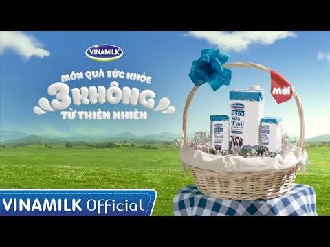 Món quà sức khỏe 3 KHÔNG từ thiên nhiên - Sữa tươi Vinamilk 100% - Tặng ngay 1 hộp khi mua 2 lốc