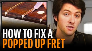 Watch the Trade Secrets Video, Fixing fret buzz: seating a popped-up fret