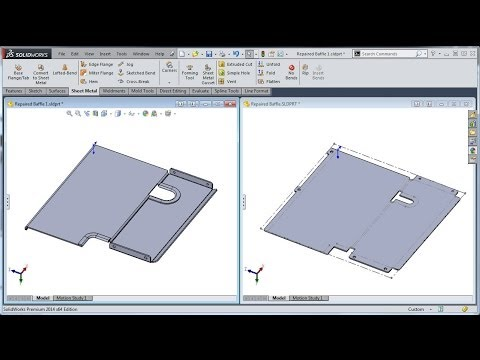 SolidWorks Tutorial: Import Diagnostics 4 - Sheet Metal Conversion