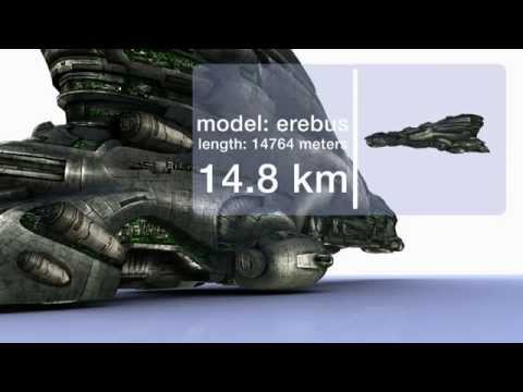 EVE Online Ship Sizes: Gallente Edition, Due to popular demand. ;-) Please watch it in HD! Special thanks go to CCP for these fantastic models. The metric conversion: 1 meter = 1 yard 1 km = 0.6 mil...
