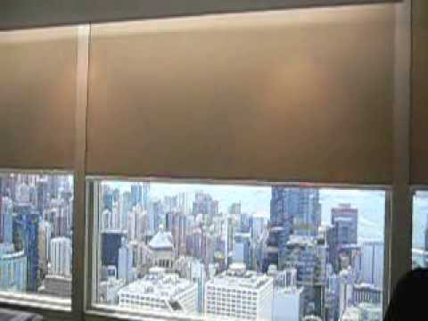 Blackout motorized roller blinds with side track at cheung Motorized blackout shades with side channels