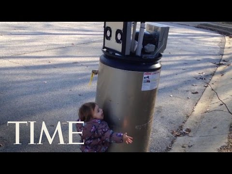 Little Girl Mistakes This Water Heater As A Robot | TIME