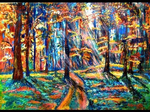 How To Paint Impressionist Style With Acrylics On Paper