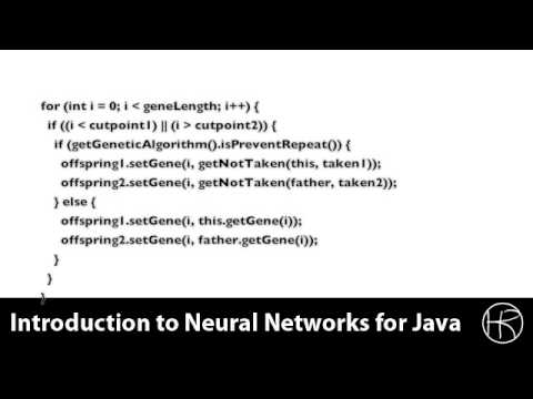 Introduction to Neural Networks for Java(Class 5/16, Part 2/5) - genetic algorithm