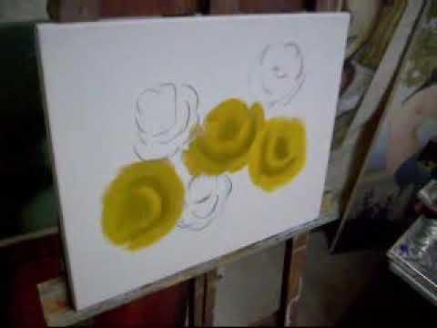 Pintando rosas com Marcio Monteiro (aula 1)