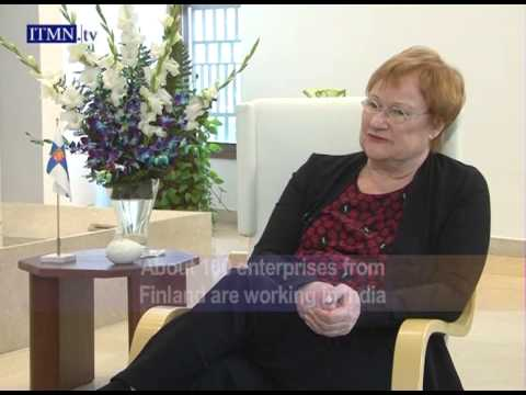 President Tarja Halonen of Finland - interview with Vickram Bahl