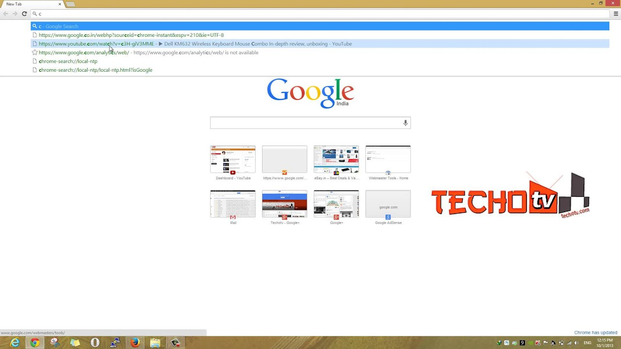 """How to get back to old """"new tab"""" start page in Google ..."""