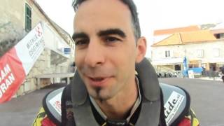 Edi Ederer, at the start this morning of the last stage of Croatia Rally 2014,