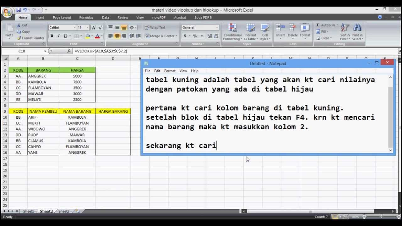 How To Use VLOOKUP on MS EXCEL 2007