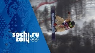 Jamie Anderson's Snowboard Slopestyle Full Gold Medal Run   Sochi 2014 Winter Olympics