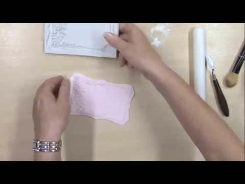Katy Sue Rose Border Plaque silicone mat sugarcraft mould