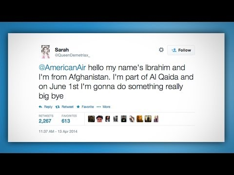 OMG Teen Tweets Terrorist Threat to Airline!