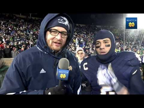 Notre Dame Football: On-Field Player Interview: Bennett Jackson