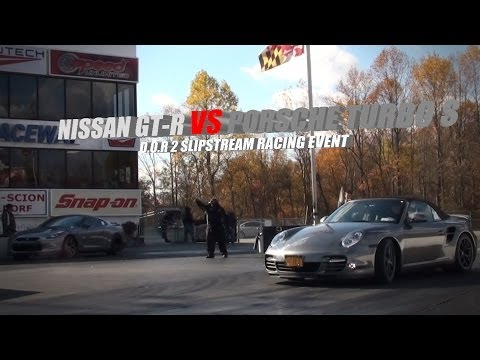 GT-R vs Porsche turbo S -  Who won?