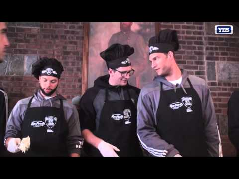 Brooklyn Nets Brook Lopez Mic'd Up Serving Stuffing to Troops on Veterans Day #NETSonYES