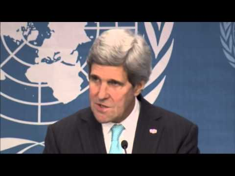 John Kerry talks tough to Syria at UN meeting