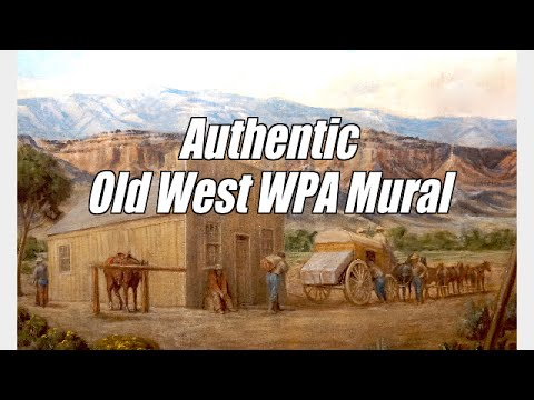 Authentic WPA Mural of ''Old West'' Art Conservation Consultation and Project Planning