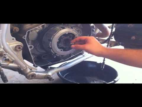 Yamaha Warrior  Starter Clutch Removal