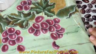 Tutorial Como Pintar Hojas De Parra En Tela 1 Pintura