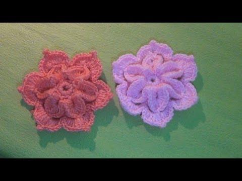 Hướng dẫn móc hoa len - Mẫu hoa lan 2 lớp