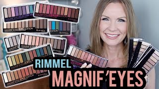 Rimmel Magnif'Eyes Palettes! | Full Collection! | Swatches & Review! | LipglossLeslie